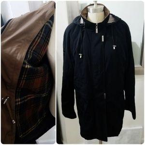 Braetan | Zip Out Plaid Lining Hooded Rain Jacket